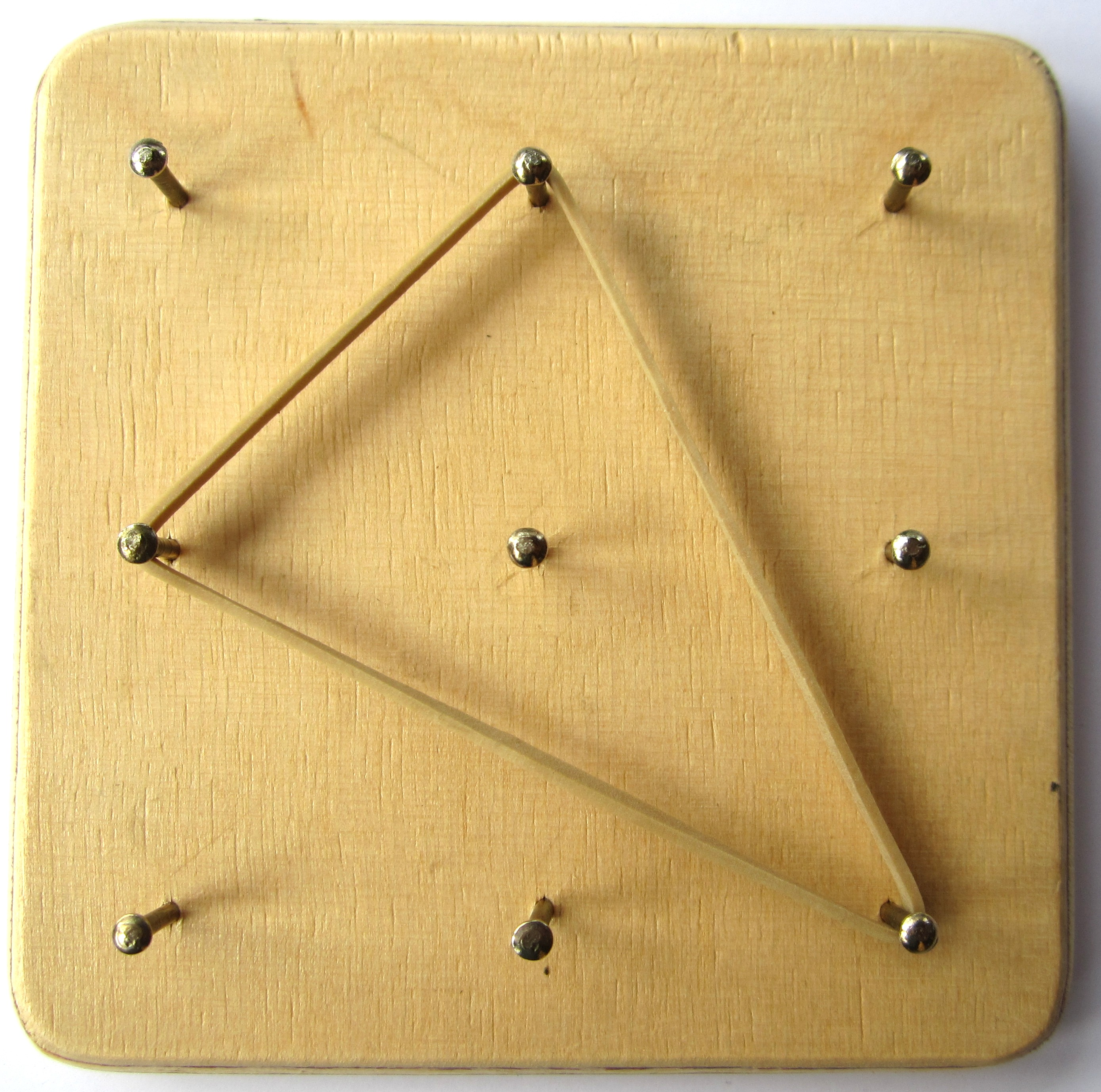 Geoboard made of Wood and Nails